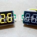 """Volt Meter DC 0.36"""" สีเหลือง"""