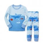 ชุดนอนลายปลาฉลามสีฟ้า [size 1y-2y-3y-4y-5y-6y]