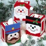 แพทเทิร์นแผ่นเฟรมกล่องทิชชูลายซานต้ามี 3 แบบๆ ละ