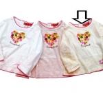 KGTL189L Kidsplanet เสื้อยืดเด็กหญิง แขนยาว สีครีม สกรีนลาย+ปักแปะกระดุม เนื้อผ้ามีดีเทล กุ๊นรอบคอ แขนและชายเสื้อด้วยงานถักน่ารักมาก ๆ เหลือ Size 5Y