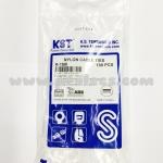 Cable Tie ยี่ห้อ KST (TAIWAN) 6นิ้ว สีขาว