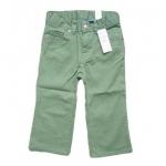 BRG121 The Children's Place กางเกงขายาวผ้าเดนิมสำหรับสาวน้อย ติดกระดุมเหล็กลายดอกไม้ สีเขียว Size 12M