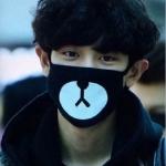 ผ้าปิดปาก CHANYEOL EXO สีดำ