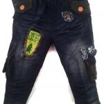 J8890 กางเกงยีนส์เด็กชาย ขายปลีกในราคาส่ง ดีไซเท่ห์ทั้งด้านหน้า-หลัง เอวยางยืด Size 4-6 ขวบ