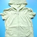 BRG095 St. Bernard เสื้อยืดแขนตุ๊กตามีฮู้ด ซิปหน้า แนวสปอร์ต สีเขียวหวาน เหลือ Size 5 ขวบ