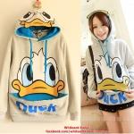 [Pre-order] MM738 เสื้อกันหนาวลายโดนัลดั๊ค Donald Duck มีฮู๊ดรูปเป็ดโดนัล ดั๊ก