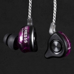 หูฟัง Tfz Series5s Inear 2Chamber Drivers แบบคล้องหู เสียงระดับออดิโอไฟล์ สายแบบชุบเงิน รูปทรง Custom