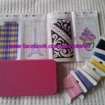 Case Iphone 4, 4S สีชมพูบานเย็น แบบปักได้