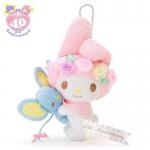 ตุ๊กตาพวงกุญแจ มายเมโลดี้ Sanrio My Melody Plush Doll Mascot Key Chain 40th Anniversary