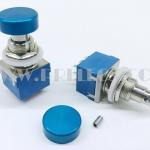 3PDT Foot Switch 9ขา หัวใหญ่ สีฟ้า