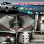 โรงงานพรมรถยนต์ Mitsubishi Pajerosport 2016 ลายธนูสีเทาขอบแดง