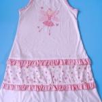CTP021 Carter's ชุดนอนเด็กหญิง ชุดลำลอง สาวน้อย สีชมพูสกรีนลายนางฟ้าตรงอก ระบายตรงช่วงล่างสลับลายดอกไม้ เหลือ Size 3 ขวบ