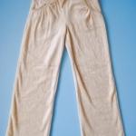 BRG006 Greendog กางเกงขายาวสำหรับเด็กผู้หญิง ผ้ากำมะหยี่สีครีม จับจีบกระเป๋าหน้า สไตล์สปอร์ต เหลือ Size 6 ขวบ