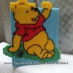 กล่องทิชชูแผ่นเฟรมลายหมีพูห์ (ทำสำเร็จ)