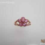 แหวนเงินพิงค์ซัฟไฟร์ (Silver ring pink sapphire)