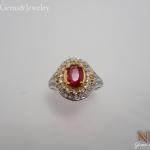 แหวนเงินสปีเนลแดง (Silver ring red spinal)
