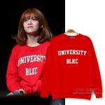 เสื้อแขนยาว (Sweater) University BLKC แบบ JIMIN AOA