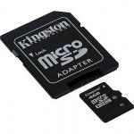 เมมโมรี่ การ์ดKingston Memory Micro SD Card Class 4 - 4GB พร้อมอเดปเตอร์