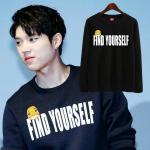 เสื้อแขนยาว (Sweater) FIND YOURSELF แบบ Woohyun