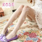 [พร้อมส่ง] L7228 ถุงน่องแฟนซี ลายดอกกุหลาบ Sexy Rose