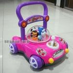 รถผลักเดินแบบปรับหนึดได้แบบรูปรถสีชมพู ปรับหนึดได้ ราคาประหยัด