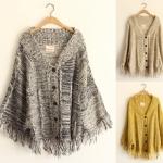 [Pre*order] MM4559 เสื้อคลุมกันหนาว (เสื้อคลุมไหล่) ชายรุ่ย สไตล์โบฮีเมี่ยน Bohemian