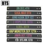 สายรัดข้อมือซิลิโคน #BTS (ระบุชื่อศิลปินที่ช่องหมายเหตุ)
