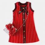 ชุดกระโปรง สีแดง แพ็ค 5 ชุด ไซส์ 100-110-120-130-140