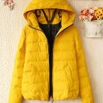 [Pre-order] MM2844 เสื้อกันหนาวกันลม บุนวม แบบ Down Jacket มีหมวกฮู๊ด