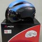 หมวกจักรยานมีแว่น X-FOX,XF-007 มี 2 เลนส์ AERO HELMETS