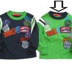 KPTL210L Kidsplanet เสื้อผ้าเด็กชาย เสื้อยืดแขนยาว สีเขียวกุ๊นคอสีกรมท่า ปักแปะลายรถแข่ง Grand Prix Drivers Club เหลือ Size 3Y