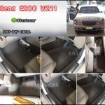 พรมกระดุมเล็ก Benz E200 W211 สีเทาขอบเทา