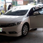 ขายพรมปูพื้นรถยนต์ราคาถูก Honda Civic 2015 ไวนิลสีเทาขอบเทา