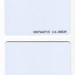 บัตรพร๊อกซิมิตี้การ์ด สีขาว บัตรทาบ 125 khz บัตรพลาสติกสีขาว