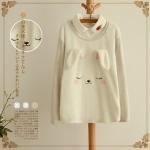 [พร้อมส่ง] MM2660 เสื้อกันหนาวแขนยาว ลายกระต่ายน้อย มีหูยื่นออกมาด้วยนะคะ น่ารักมากค่ะ