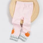 กางเกงเลคกิ้งสีชมพูลายนกกีวีสีส้มที่ปลายขา [size 1y-2y-3y]
