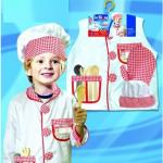 ชุดพ่อครัว+อุปกรณ์ตามรูป แพ็ค 3 ชุด ไซส์ 50*44 cm. (เหมาะสำหรับ 3-8 ขวบ)