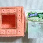กล่องทิชชู pop-up สีโอรส