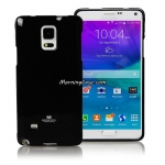 เคส Galaxy Note 4 แบรนด์ Mercury (Goospery) Jelly Case สีดำ