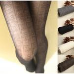 [พร้อมส่ง] L5606 ถุงน่องลายลูกไม้ ทางยาว แบบวินเทจ CC Vintage Style