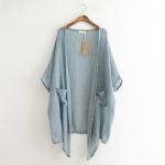 [Pre order] MM3897 เสื้อคลุมกันแดด ตัวยาว ผ้าคอตต้อนลินิน สไตล์ญี่ปุ่น Natural Style