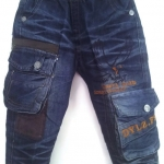 JD1045 กางเกงยีนส์เด็กชาย ดีไซส์ลายปักเท่ห์ทั้งด้านหน้า-หลัง เอวยางยืด เหลือ Size 4-6 ขวบ