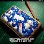 กระเป๋าใบกลางผ้าอเมริกา - สั่งทำ