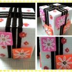 กล่องทิชชูแผ่นเฟรมของขวัญ