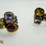 แหวนพลอยแฟนซี 3 หัว (Fancy Stone Silver Ring)