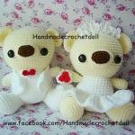 ตุ๊กตาแต่งงาน หมีบ่าวสาว แบบ2
