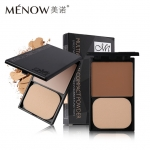 Menow Illuminator Makeup Face Pressed Powder Palette Multivitamin Waterproof Matte Compact Powder with Puff Long Lasting