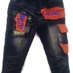 J8863 กางเกงยีนส์เด็กชาย ขายปลีกในราคาส่ง ดีไซเท่ห์ทั้งด้านหน้า-หลัง เอวยางยืด Size 4-6 ขวบ