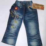 CNJ019 กางเกงยีนส์ เด็กหญิง ขายาว ผ้าฟอกอัดยับ ผ้านิ่มใส่สบาย แต่งลายเก๋ ๆ กระเป๋าหลังสองข้าง Size 15/16