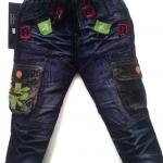 J707 กางเกงยีนส์เด็กชาย ขายปลีกในราคาส่ง ดีไซเท่ห์ทั้งด้านหน้า-หลัง เอวยางยืด เหลือ Size 3 ขวบ